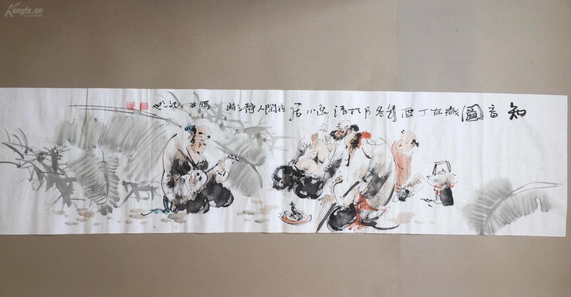 【文人水墨人物畫】--知音圖      書畫真跡
