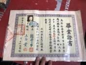 民国安徽蒙城美女 毕业证   天津打字专科学校