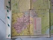 9734很早的大开老上海地图 1954初版地图【新上海市街道详图)】53*77厘米