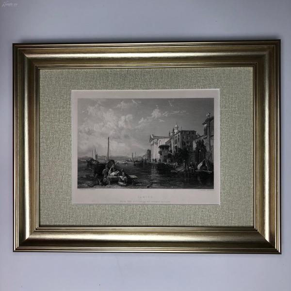 1854年 弗農畫廊藝術精品版畫 Venice 威尼斯風景
