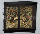 旧制 白鹇补子一件 (绣面针脚细密,色彩斑斓,五福祥云花卉纹饰,造型生动美观,四边绣以回纹,使得整幅绣面有画面感,值得珍藏)(尺寸:36.5*35cm)HXTX119507