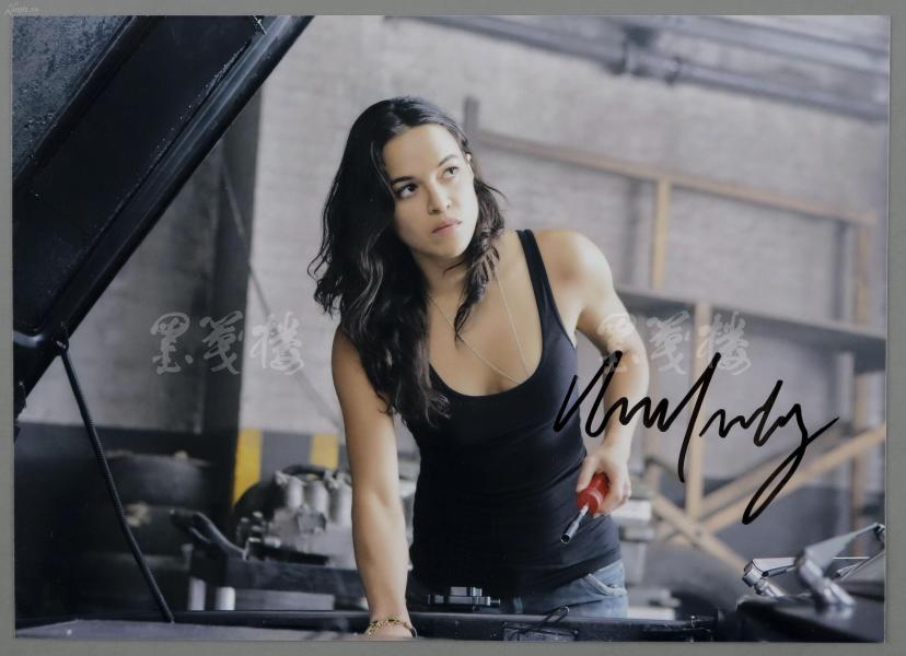美國著名電影演員、曾出演《速度與激情》系列電影  米歇爾·羅德里格茲( Michelle Rodriguez) 親筆簽名劇照一張 HXTX300428