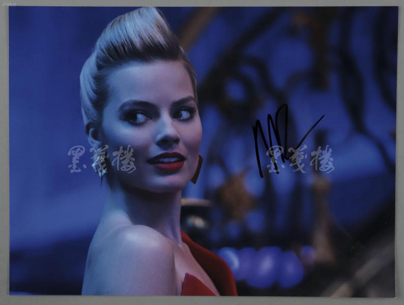 著名澳籍好萊塢演員  瑪格特·羅比(Margot Elise Robbie)親筆簽名照片一張 HXTX300427