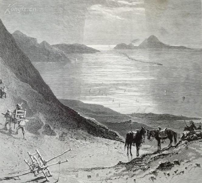 1878年木刻《去往阿纳卡普里的途中,西班牙》(on the road to anacapri)---选自《如画的欧罗巴》,纸张31.5*24厘米