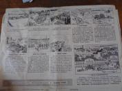 80年代连环画报4张合拍,长26cm36.5cm,品好如图。