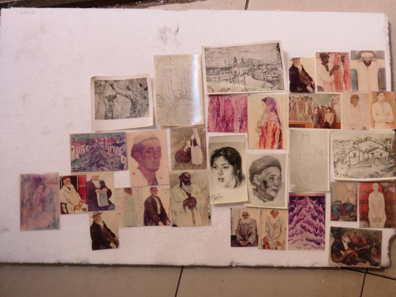 早期美術印刷畫片十多張1907232