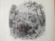 1878年木刻《维乌斯城堡,比利时》(chateau de veves)---选自《如画的欧罗巴》,31.5*24厘米--精美,漂亮,高质量