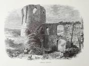 1878年木刻《盖拉尔城堡,法国》(chateau gaiilard)---选自《如画的欧罗巴》,31.5*24厘米--精美,漂亮,高质量