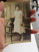 民國美少女明信片式老照片一張19072317