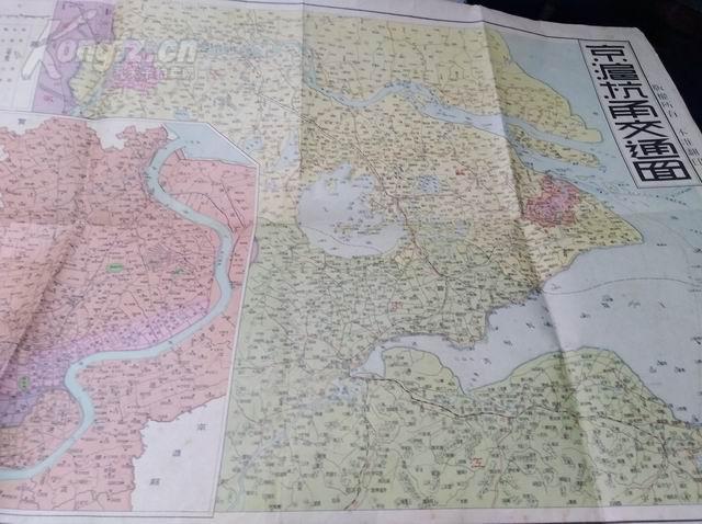 民国彩印《京沪杭甬交通图》