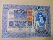 清代時期  歐洲 匈利亞紙幣1000元,珍稀  超級大尺寸  女神圖像,非常漂亮,1902年,保存品相很好,詳細如圖所示,編號6