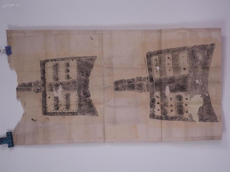 舊拓本一整張《西周楚公鐘拓片》109X58厘米,應為原拓,較珍稀!