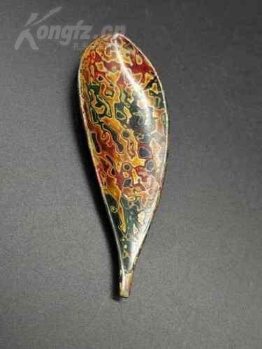 日本回流,《木胎犀皮茶則-2》背部有輕微磨損痕