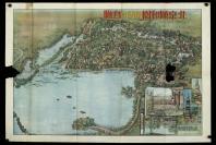 北京頤和園萬壽山鳥瞰 老地圖 一張(背面有圖解,尺寸:52*77cm)HXTX300338