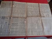民國老報紙《新聞報》民國18年5月12日,2開,4張,品好如圖。