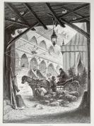1878年木刻《市場貨運馬車》(a market  cart)---選自當年藝術日志--紙張32*24厘米
