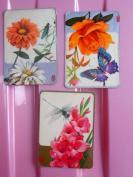 3枚,绘画版动物、花卉,人民铁道出版社