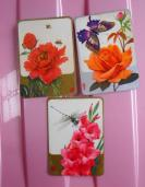 山东省工艺品分公司3枚,绘画版动物、花卉