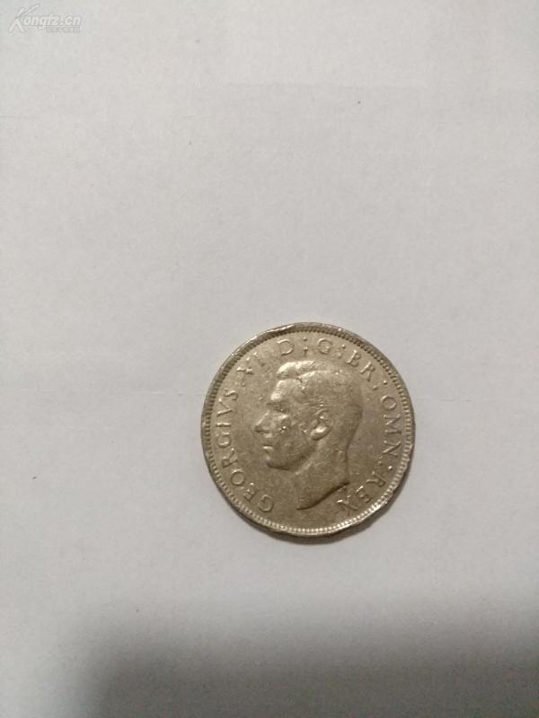 1947年英國硬幣2先令外國硬幣紀念幣