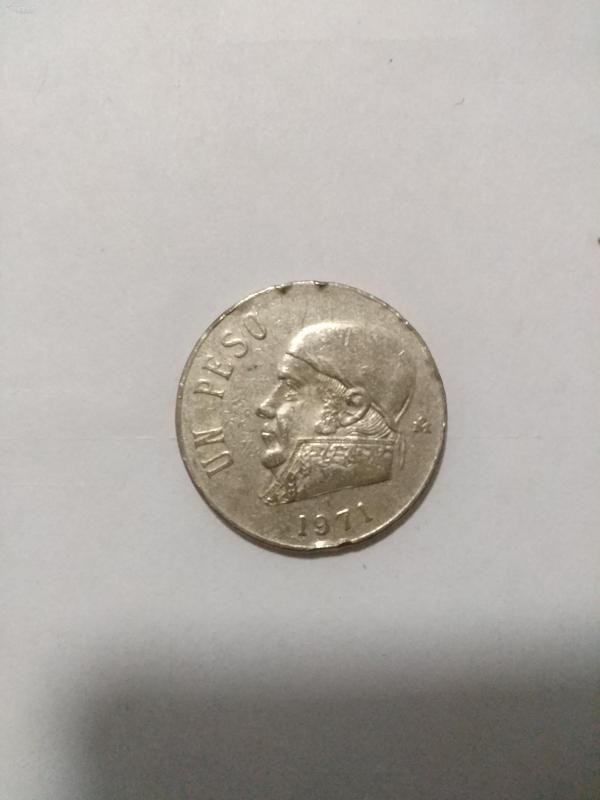 1971年墨西哥硬幣1比索外國硬幣紀念幣