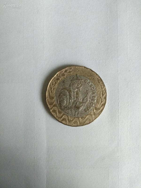 1991年葡萄牙硬幣200埃斯庫多外國雙色硬幣紀念幣