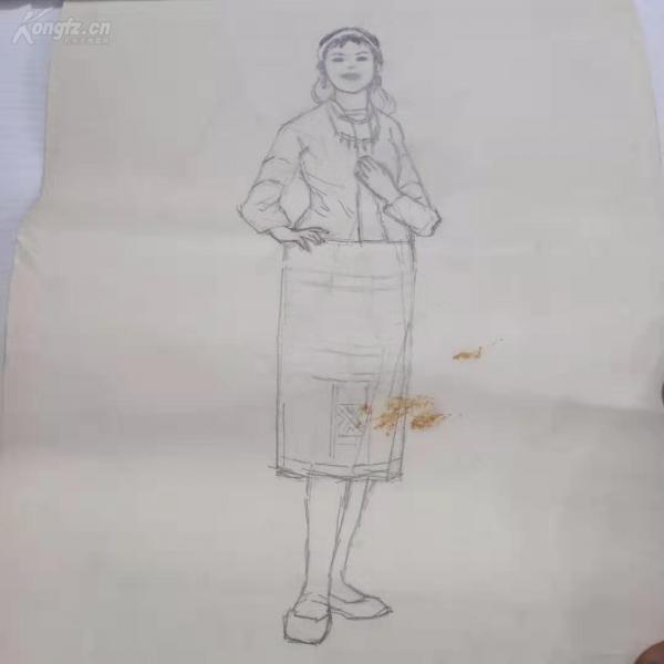 人物素描畫一張 c081036