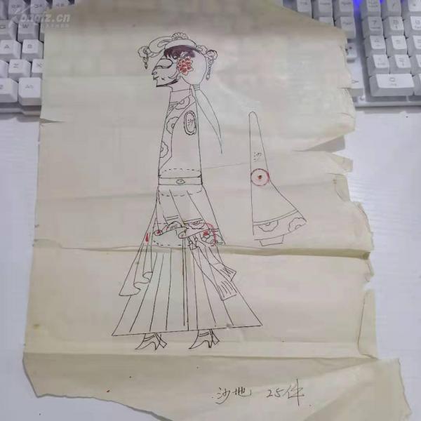 鋼筆素描一張 c081045