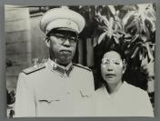 十大元帅之一、著名革命家、军事家 罗荣桓 与夫人林月琴合影照片 一张(尺寸31*41cm)HXTX300792