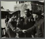 约六七十年代 朱德元帅、开国上将李克农等合影照片 一张(尺寸31*36cm)HXTX300806