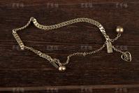 清末民初 银鎏金手链 一件(长度:12.5cm,重量:7.5g,款识:物恒足纹)HXTX300844