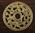 清代 凤凰麒麟 铜质 镂空花钱 一枚(直径:6cm,重量:40.6g)HXTX300848