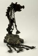 """民国时期 """"福在眼前""""纹饰 老银饰 一件(长:44cm,重量:79.6g)HXTX300847"""