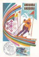 【外国邮品  法属安道尔1976年邮票272第12届冬季奥运会极限片】