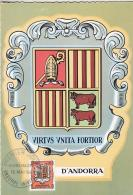 【外国邮品  法属安道尔1964年邮票187城徽 散票 锯齿边极限片】