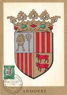 【外国邮品  法属安道尔1961年邮票164城徽散票极限片】