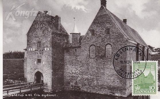 【外国邮品  丹麦1954年年邮票建筑城堡 散票 极限片】