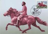 【外国邮品 冰岛1982年邮票骑马运动 极限片】