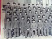 1962年解放军老相片一张,荣获1981年四好 区队的五区队全体同志合影。品好如图。