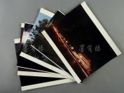 """约八九十年代 佚名拍摄 """"北京名胜夜景"""" 大幅风景照片一组五张;附""""雪山""""风景照一张 (内收北京天安门、天坛、角楼等夜景照片) HXTX302110"""
