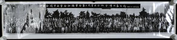 1986年拍摄于沈阳 《中华全国中医学会肛肠学会第三次学术会议全体代表合影》 长幅老照片一张 (尺寸:20*95cm) HXTX302271