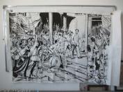 1967年  巨幅 毛主席和人民群众在一起   版画作品一幅  150*99厘米 当代印刷品