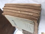 1953   1954  天津大学  讲义课本5册  南开大学作业二册,众多手写内容,共8册
