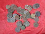 清朝民国铜元铜版50梅合拍,保老保真。