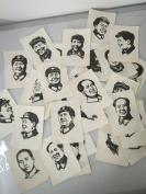 64开主席木刻黑白画像35张