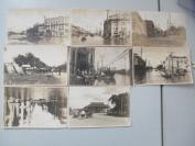 民国间  租界内水灾原版老照片 照片8张  尺寸14.5*9.5厘米 b082101