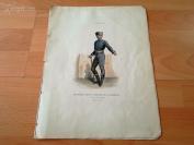 1860年雕刻版画《中产阶级的皮匠师傅,匈牙利》(bourgeois,maite tanneur de j'azbereny)---手工上色---33*25.5厘米