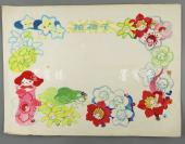 插图画家 冀维静手绘《节日的礼物》插图原稿 一张(出版于1984年《节日的礼物》p18至19页,为葛翠琳作品《花孩子》所做插图)HXTX302855