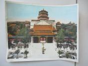 民国期间   北京颐和园佛香阁  大幅彩色照片1张   尺寸30*25厘米