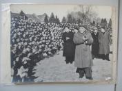 50年代 周总理朱德贺龙陈毅 大幅合影照片1张   尺寸25*30厘米