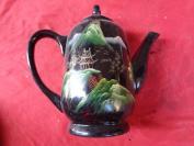 80年代脱胎茶壶一个,园形,高17cm,品好如图